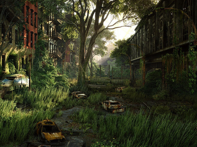 A still shot from Crysis, by Crytek games.