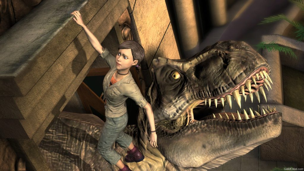 A still from TellTale Games' Jurassic Park.