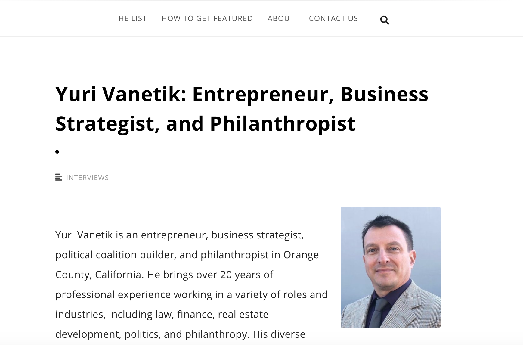 yuri vanetik wall street journal