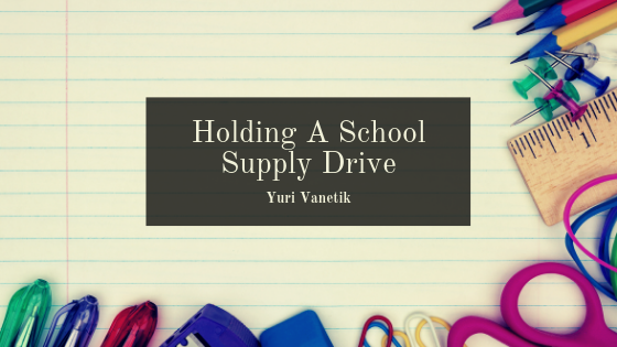 Holding A School Supply Drive